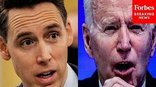 Hawley Calls For Biden To Resign From Office In Harsh Senate Floor Speech