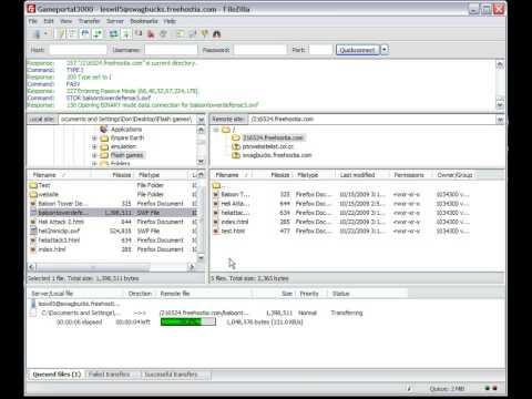FileZilla Uploading Problem