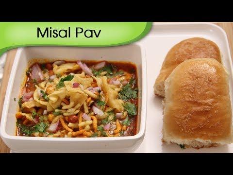 Misal Pav - Spicy Curry With Bread - Maharashtrian Street Food Snacks Recipe By Ruchi Bharani