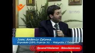 DESDE MI CASA MELIPILLA / DIPUTADO JUAN ANTONIO COLOMA /  24 abril 2015
