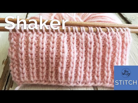 Shaker stitch (Half Fisherman's Rib): A two-row repeat knitting pattern, easy and reversible,