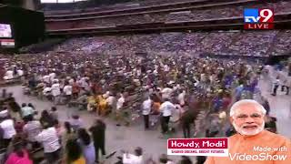 PM Narendra Modi grand Entry in Houston as Goldberg (Lion Modi)