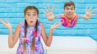 Nastya and Artem Jump through the wall