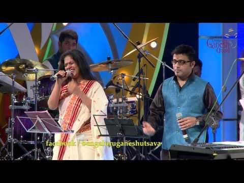 """Jeeva Hoovagide"" song by M D Pallavi & Ajay Warriar @ 53rd Bengaluru Ganesh Utsava..!!!!"
