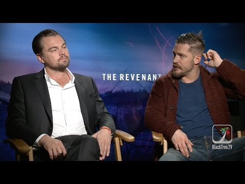 Leonardo DiCaprio and Tom Hardy  THE REVENANT