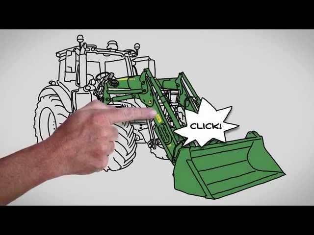 John Deere Frontlader der Serie R - Automatische Werkzeug-Verriegelung