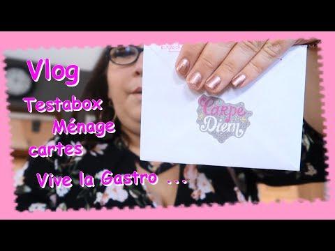 Vlog ... Testabox Menage Cartes ... Vive la Gastro ...