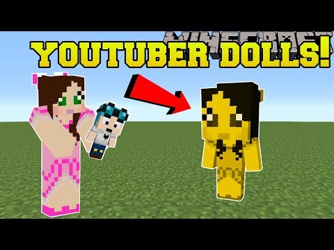 Minecraft: YOUTUBER DOLLS!!! (DANTDM, POPULARMMOS, STAMPYLONGHEAD, & MORE!!!) Mod Showcase