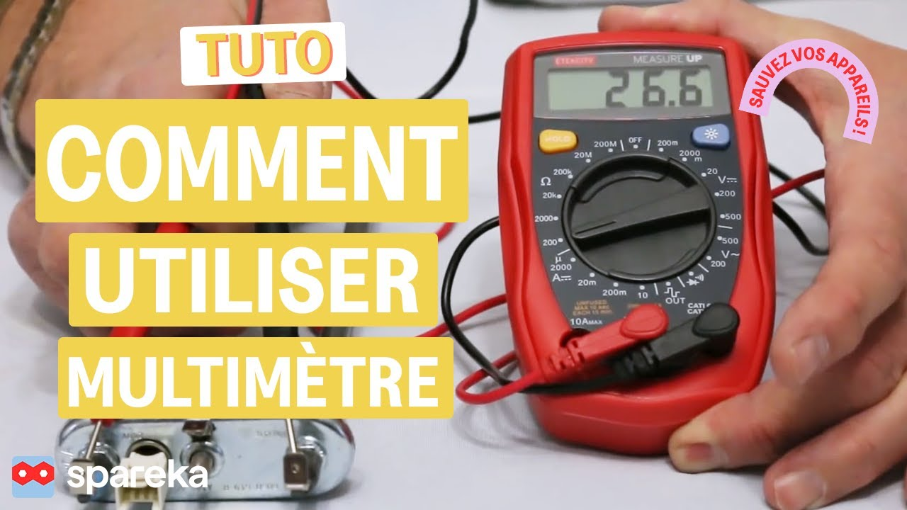 Comment utiliser un multim tre ou testeur youtube - Comment utiliser un multimetre ...