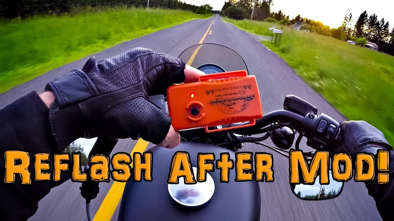 Super Tuner Pro ECM Flash! - After Air Box Mod! - Iron 883 ...