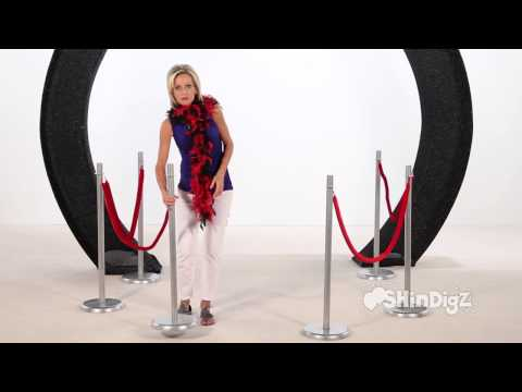 Hollywood Party Supplies Red Rope Railing - Shindigz Party Decorations