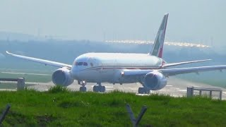 Mexican Air Force Boeing 788 landing at Hamburg Airport
