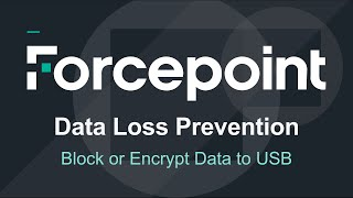 Forcepoint - AP-Endpoint DLP Stoppen oder die Verschlüsselung von Daten auf USB-Geräte Kopiert/Wechselmedien