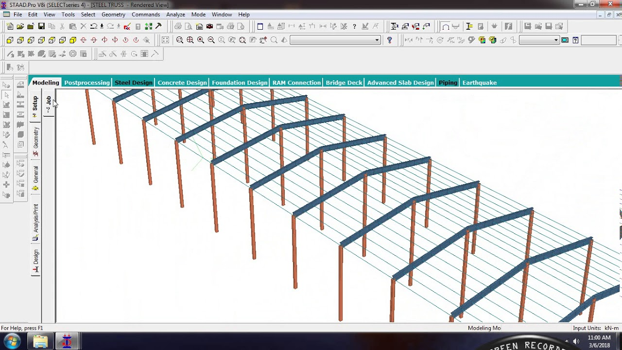 Example of Steel Truss Design by Nazar Abbas