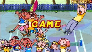 Capcom Sports Club: Tennis (JAMMA) - GER vs. FRA (2-player Versus)