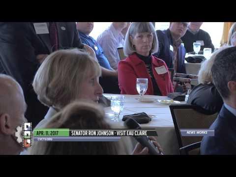 Senator Ron Johnson - Eau Claire visit, April 11, 2017