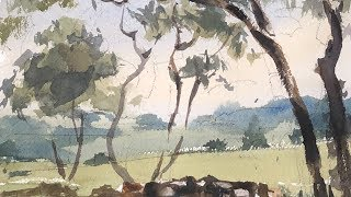 """Advancing with Watercolor: Patterns """"The Greenbelt"""""""