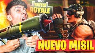 PROBANDO POR PRIMERA VEZ EL NUEVO MISIL TELEDIRIGIDO de FORTNITE: Battle Royale!! - Agustin51