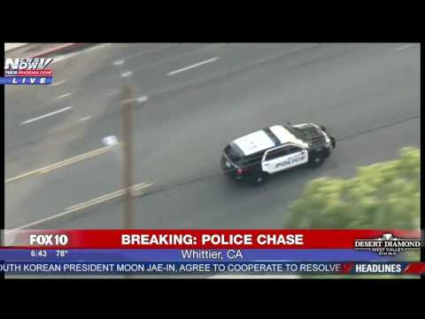 WATCH: WILD Police Chase In California (FNN)