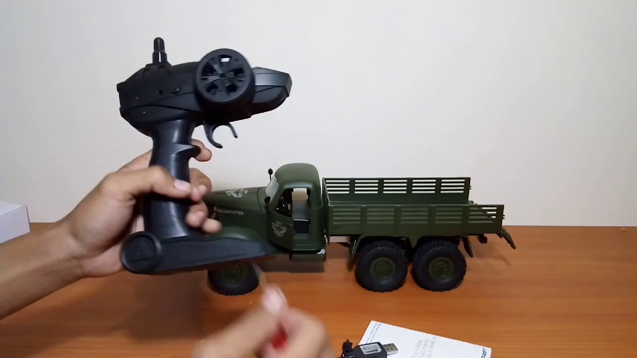 JJRC Q60 6WD Truck Military unboxing - YouTube