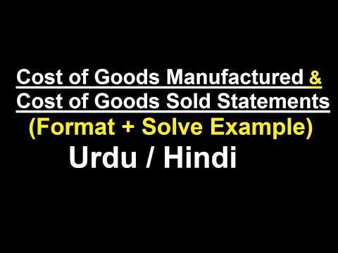 Cost of Goods Manufactured & Cost of Goods Sold Statements (Format + Solve Example) ? Urdu / Hindi