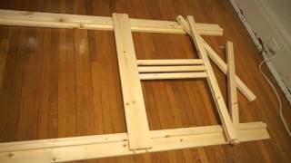 In 34 Seconds: Ikea Fjellse Bed Frame Assembled