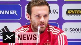Juan Mata vermisst Alvaro Morata und David Silva | Ukraine - Spanien | EM-Qualifikation