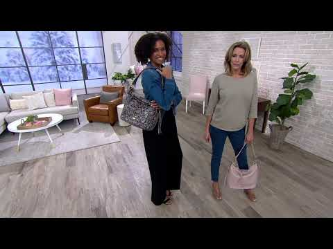 6f7ca5a13c7 Aimee Kestenberg Pebble Leather Hobo - Tulum on QVC - YouTube