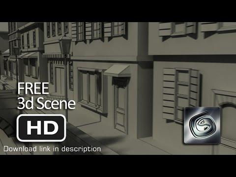 Free 3d Scenes - Classic European Buildings 3d Model