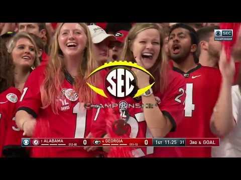 Georgia Bulldogs Football Vs. Alabama Crimson Tide - 2018 SEC Championship