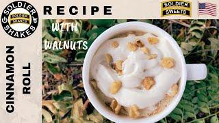 Quick and Easy Microwave Mug Cinnamon Roll With Walnuts