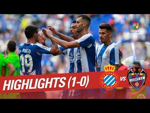 Resumen de RCD Espanyol vs Levante UD (1-0)