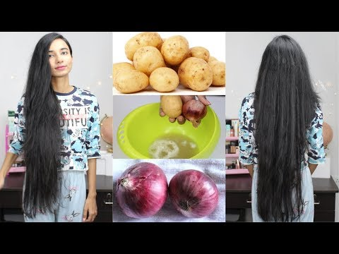 Onion & Potato Hair Mask for Extreme Hair Growth | Long,Thick,Shiny & Healthy Hair Naturally at Home