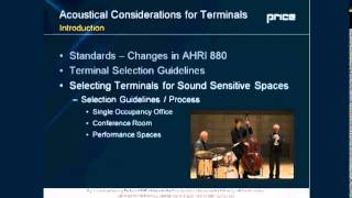 Acoustical Considerations for Terminal Unit Selection