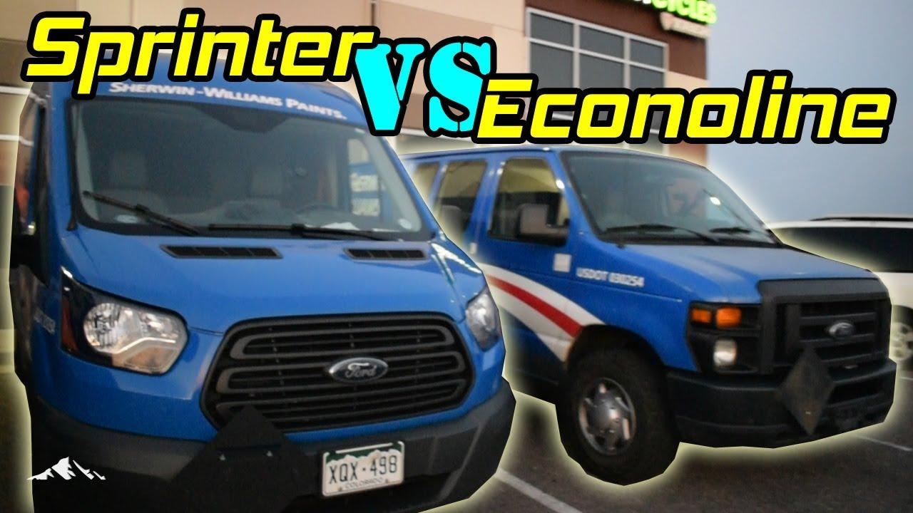 Ford Transit Sprinter Van Vs Ford Econoline Van