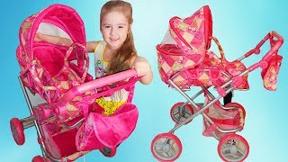 Baby Born Doll Carriage for Baby Bon Doll Unpacking Video for Girls