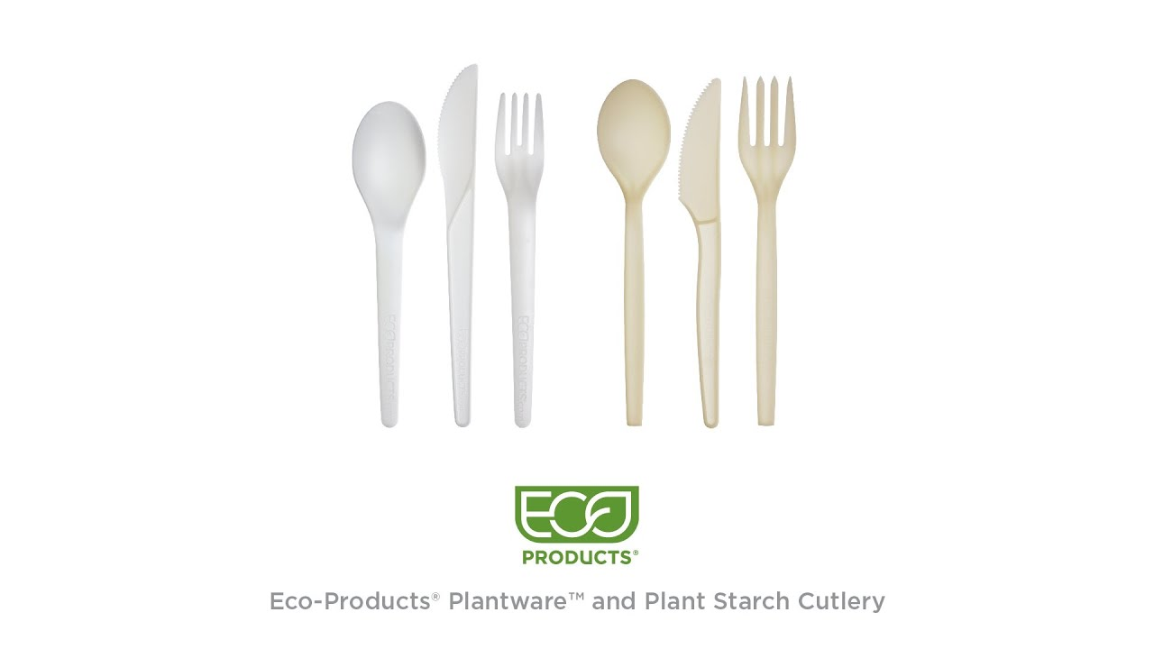 ECOSOURCE Plant Starch Cutlery 1000-Count Case Spoons