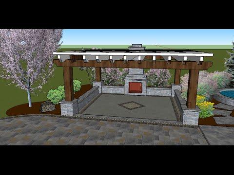 Using trimble sketchup for landscape design youtube for Garden design sketchup 8