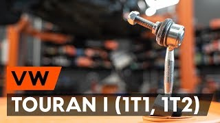 How to change Spotlight Bulb on VW TOURAN (1T1, 1T2) - online free video