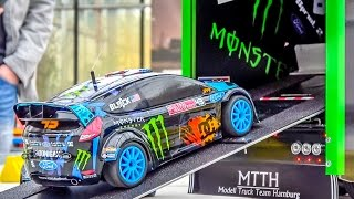 Fantastic KEN BLOCK RC truck with the Hoonigan Ford Fiesta on board! thumbnail