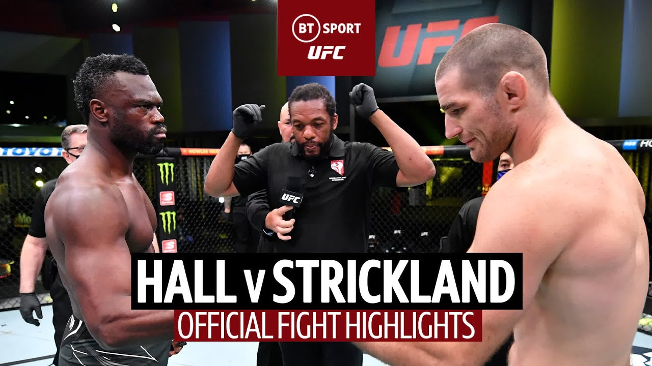 Tarzan breaks records!   Uriah Hall v Sean Strickland   UFC Fight Highlights