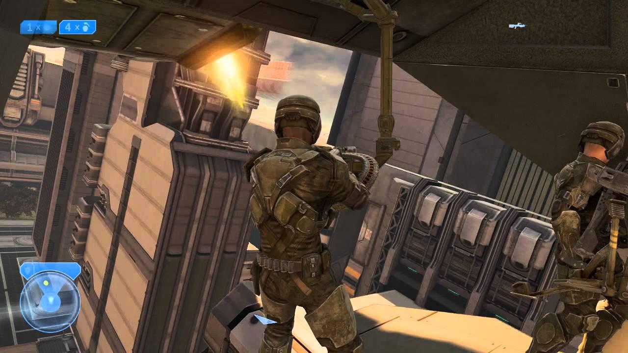 Halo 2 Annivesary - Marine screaming in pelican glitch