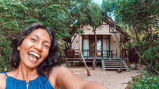 We stayed in this BEACH CABIN in Sri Lanka!
