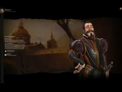 Civ 6 Spain (Philip II) Theme music -Ancient era