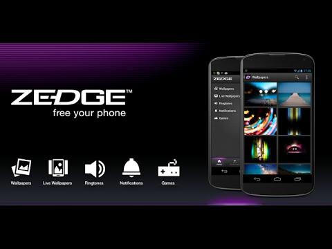 شرح كامل عن برنامج Zedge للخلفيات HD والاغاني والثيمات