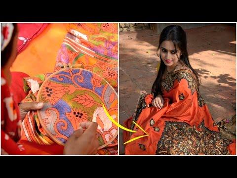 The Story Of Bengal's Kantha Stitch Saree...