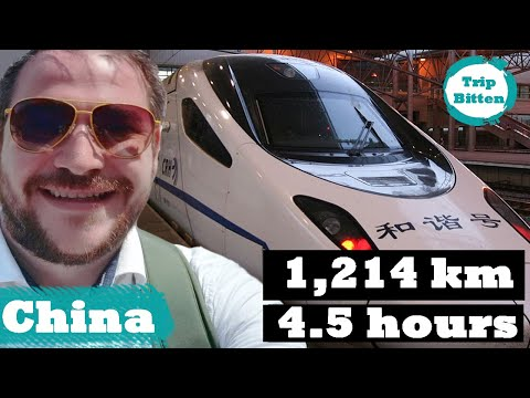 Bullet Train from Shanghai to Beijing! 350 km/hr