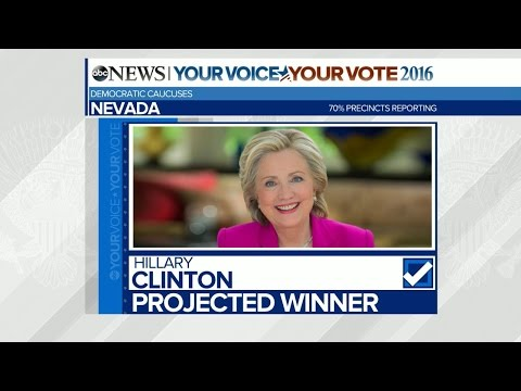Hillary Clinton Is Projected to Win the Nevada Democratic Caucuses | ABC News