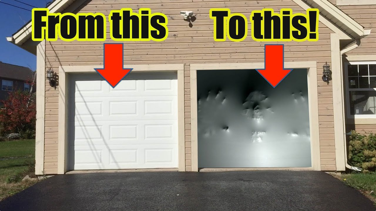 How To Make an Awesome Halloween Garage Door Illusion with Paranormal Passages by AtmosFearFX! : gradge door - pezcame.com