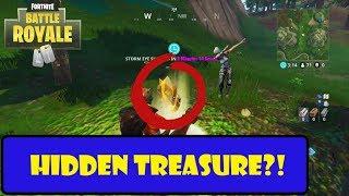 FORTNITE Hidden Treasure LOCATION! (Snobby Shores) [ OBTENEZ CE XP GRATUIT RAPIDE!!]
